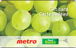 Metro / Food Basics Gift Cards