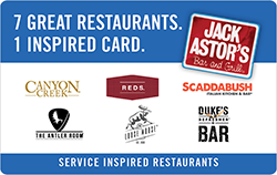 Service Inspired Restaurants Gift Cards